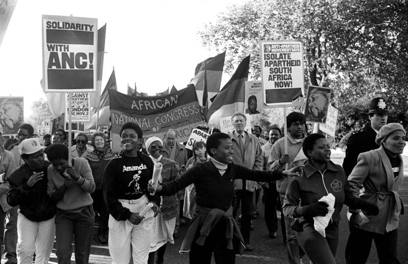 1985: Anti-Apartheid Rally